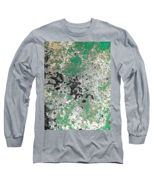 Wall Abstract 160 Long Sleeve T-Shirt by Maria Huntley