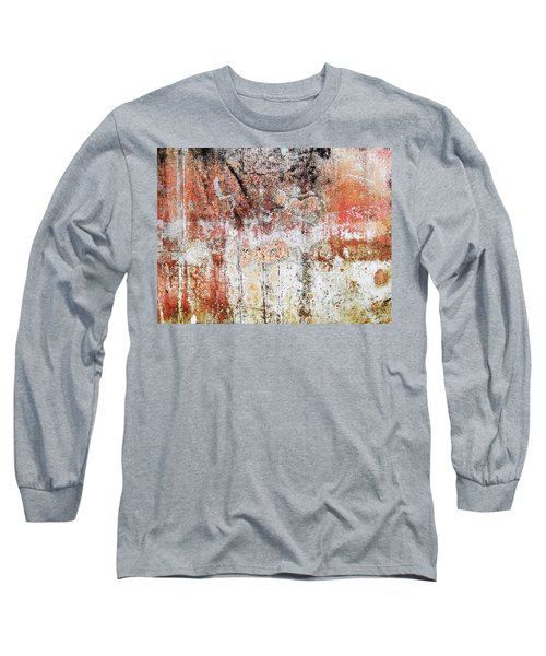 Wall Abstract  183 Long Sleeve T-Shirt by Maria Huntley