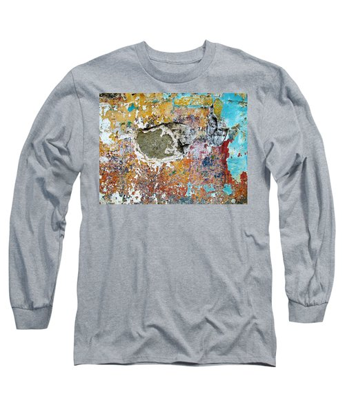 Wall Abstract 196 Long Sleeve T-Shirt by Maria Huntley