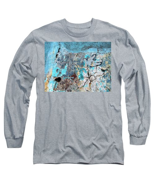 Wall Abstract 211 Long Sleeve T-Shirt by Maria Huntley