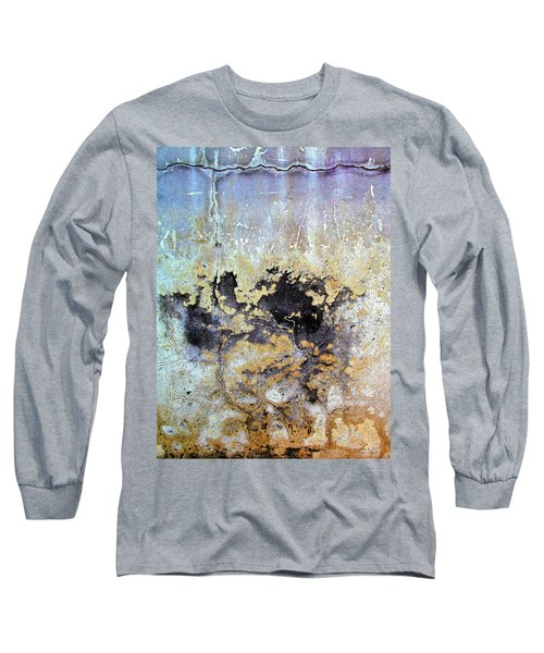Wall Abstract 68 Long Sleeve T-Shirt by Maria Huntley