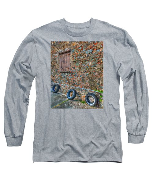 Wall Abstract Long Sleeve T-Shirt by James Hammond