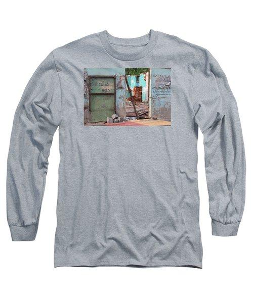 Wall, Door, Open Space In Kochi Long Sleeve T-Shirt