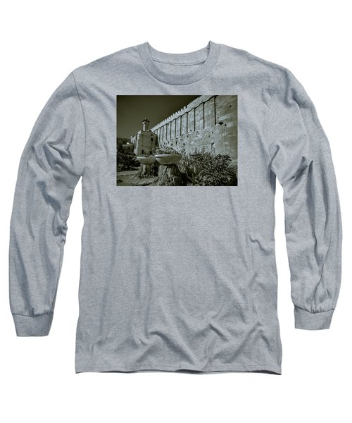 Wall Of Cave Of The Patriarchs Long Sleeve T-Shirt