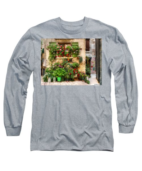 Wall Of Flowers Long Sleeve T-Shirt