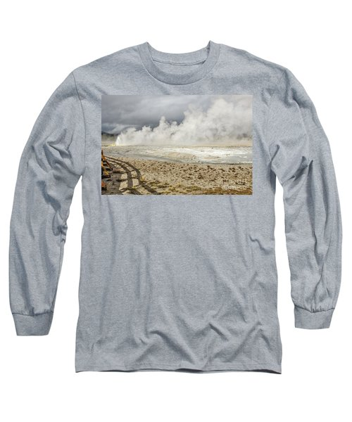 Wall Of Steam Long Sleeve T-Shirt by Sue Smith
