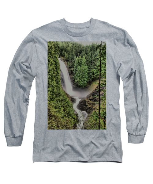 Long Sleeve T-Shirt featuring the photograph Wallace Falls by Jeff Swan