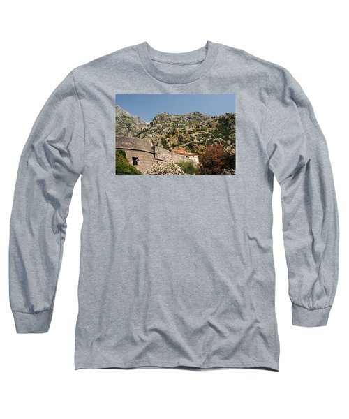 Long Sleeve T-Shirt featuring the photograph Walls Of Kotor by Robert Moss