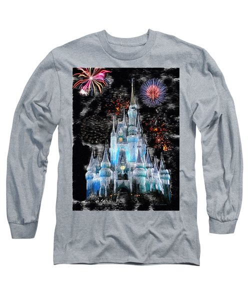 Walt Disney World Frosty Holiday Castle Mp Long Sleeve T-Shirt by Thomas Woolworth