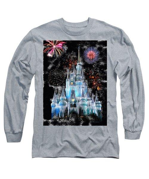 Walt Disney World Frosty Holiday Castle Mp Long Sleeve T-Shirt
