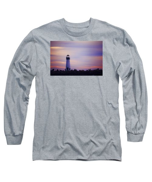 Long Sleeve T-Shirt featuring the photograph Walton Lighthouse by Lora Lee Chapman