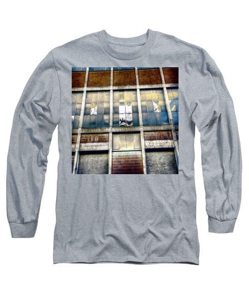 Long Sleeve T-Shirt featuring the photograph Warehouse Wall by Wayne Sherriff