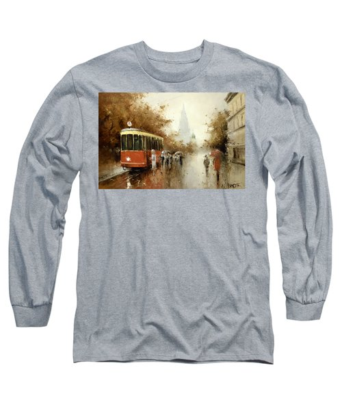 Warm Moscow Autumn Of 1953 Long Sleeve T-Shirt by Igor Medvedev