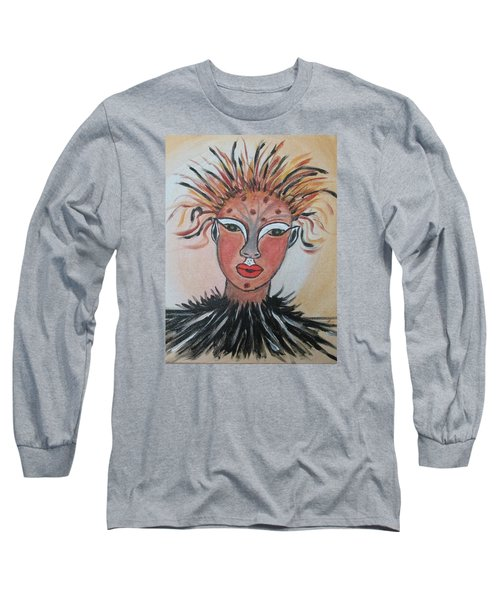 Long Sleeve T-Shirt featuring the painting Warrior Woman  #3 by Sharyn Winters