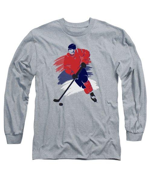 Washington Capitals Player Shirt Long Sleeve T-Shirt by Joe Hamilton