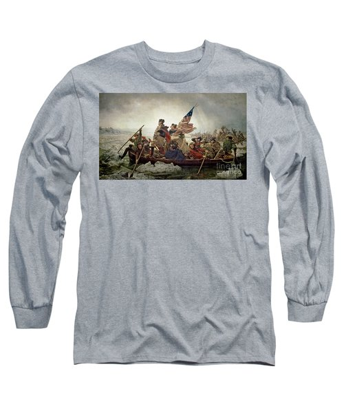 Washington Crossing The Delaware River Long Sleeve T-Shirt