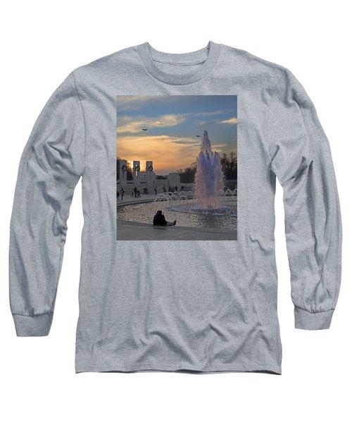 Washington Dc Rhythms  Long Sleeve T-Shirt by Betsy Knapp