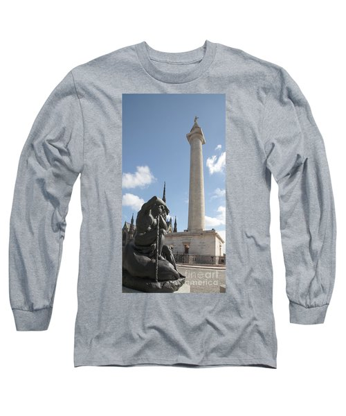 Washington Monument In Baltimore Long Sleeve T-Shirt