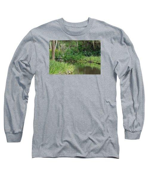 Washington Oaks Pond Long Sleeve T-Shirt by Kenneth Albin