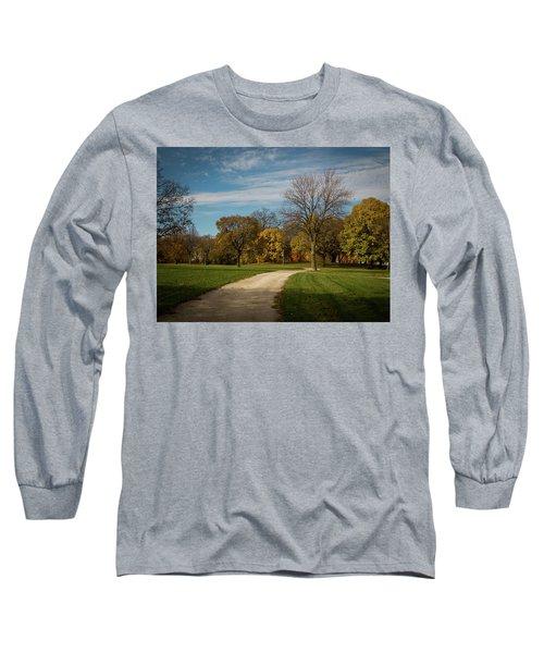 Washington Walkway Long Sleeve T-Shirt by Kimberly Mackowski
