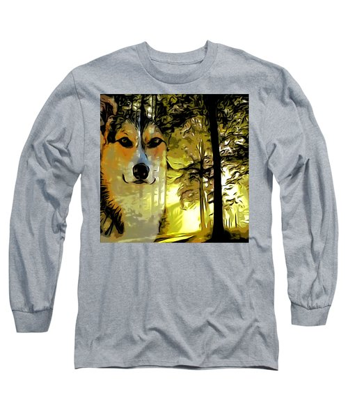 Long Sleeve T-Shirt featuring the digital art Watcher Of The Woods by Kathy Kelly