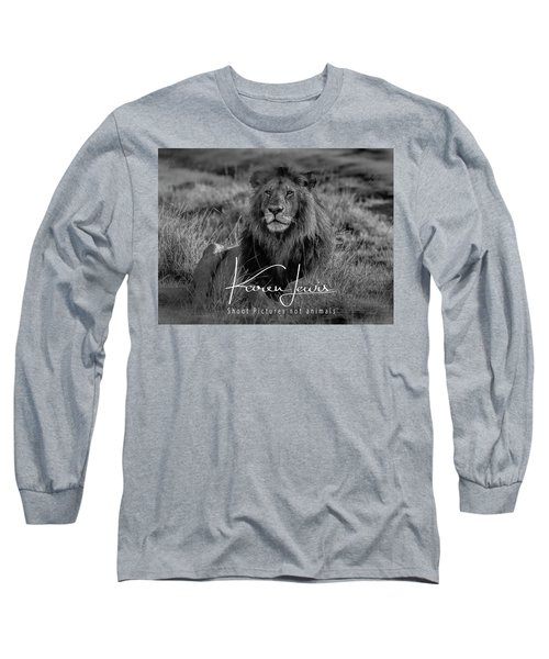 Long Sleeve T-Shirt featuring the photograph Watching And Waiting by Karen Lewis