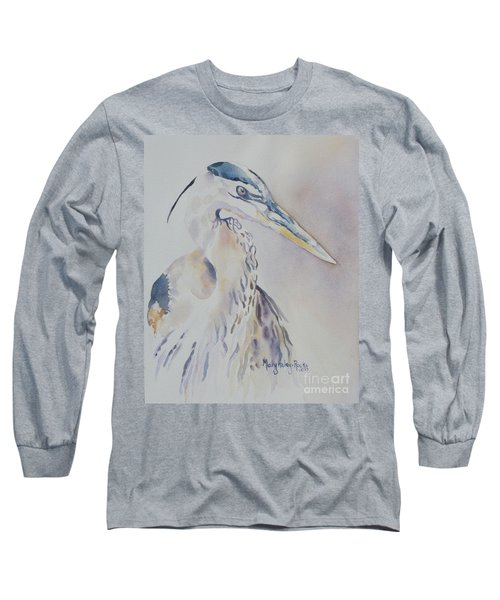 Long Sleeve T-Shirt featuring the painting Watching by Mary Haley-Rocks