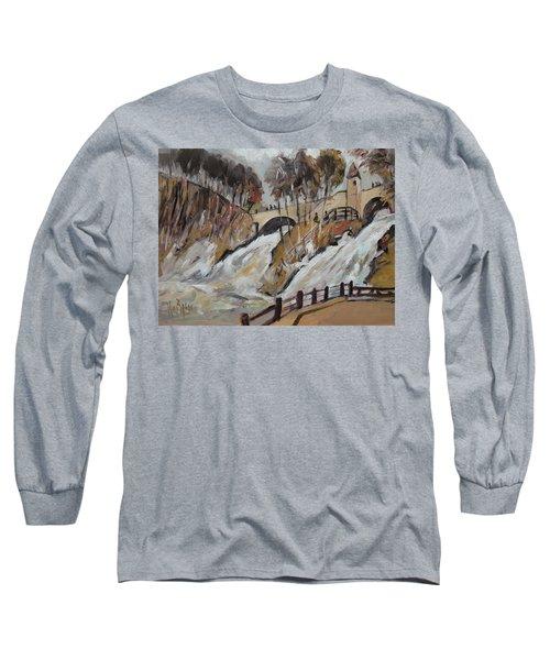 Watching The Cascades De Coo Long Sleeve T-Shirt