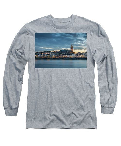 Watching The City Lights, Nijmegen Long Sleeve T-Shirt