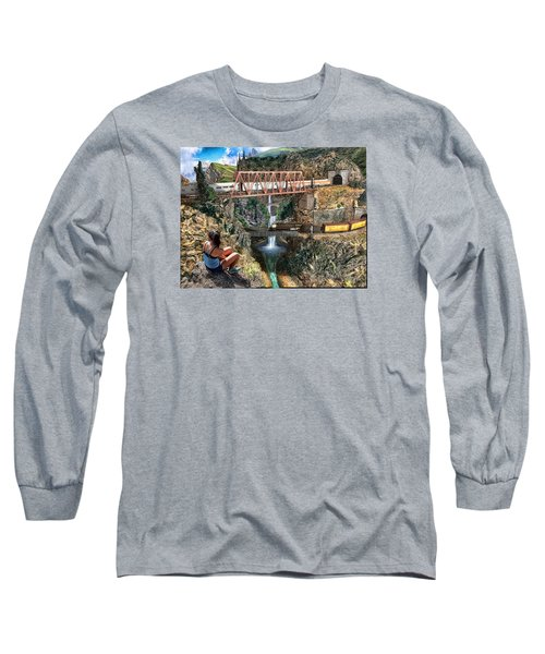 Watching The World Go By Long Sleeve T-Shirt by Michael Cleere
