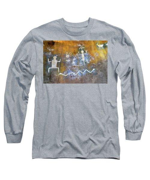 Watchtower Rock Art  Long Sleeve T-Shirt