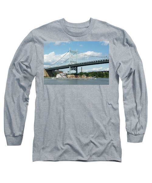 Water And Ship Under The Bridge Long Sleeve T-Shirt