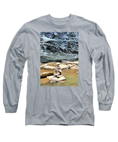 Water And Stone Long Sleeve T-Shirt by James Potts