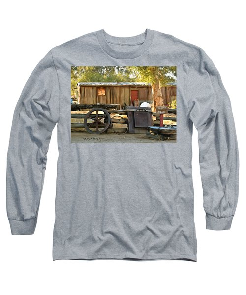 Long Sleeve T-Shirt featuring the photograph Water Draw At Hotel Nipton California Detail by Floyd Snyder