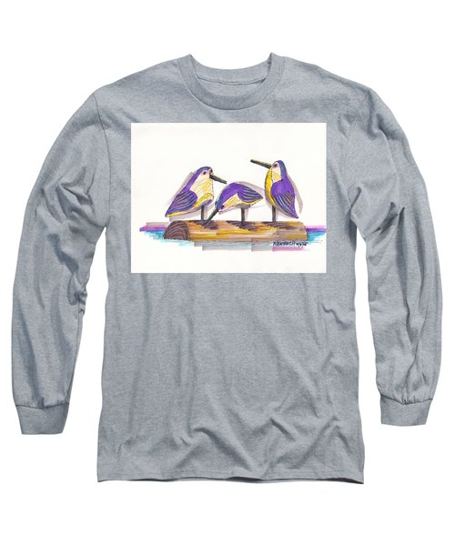 Water Fowl Motif #2 Long Sleeve T-Shirt