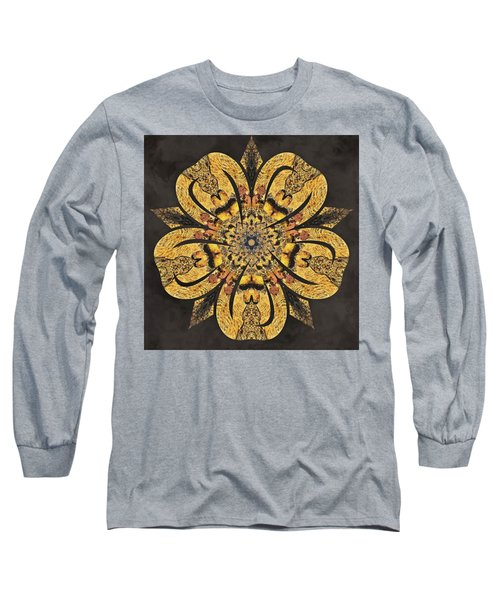 Long Sleeve T-Shirt featuring the mixed media Water Glimmer 2 by Derek Gedney