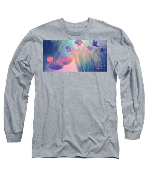 Water Iris Long Sleeve T-Shirt by Holly Martinson