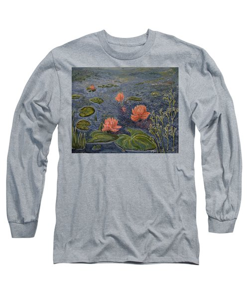 Water Lilies Lounge Long Sleeve T-Shirt by Felicia Tica