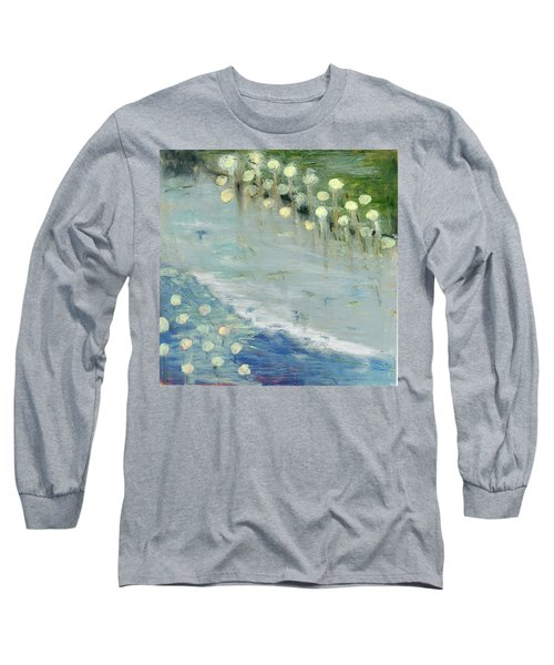 Long Sleeve T-Shirt featuring the painting Water Lilies by Michal Mitak Mahgerefteh