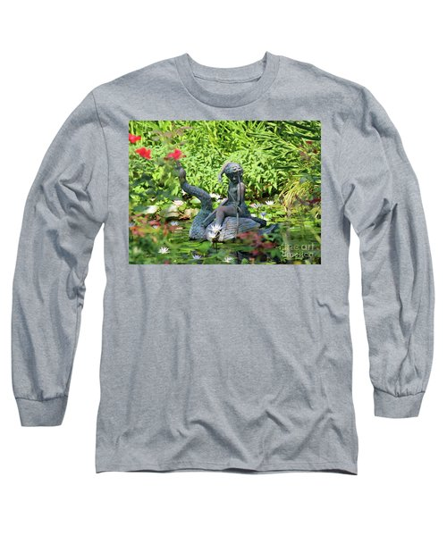 Water Lilly Pond Long Sleeve T-Shirt by Inspirational Photo Creations Audrey Woods