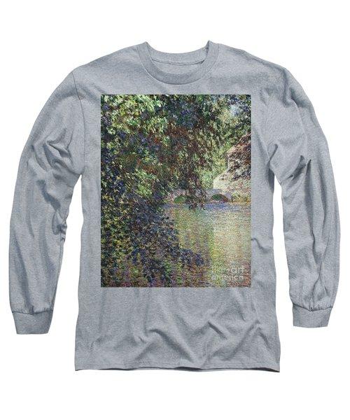 Water Mill At Limetz Long Sleeve T-Shirt
