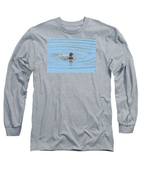Water Off A Ducks Back Long Sleeve T-Shirt by Allan Levin