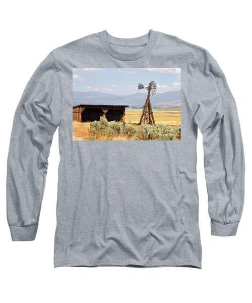 Water Pumping Windmill Long Sleeve T-Shirt