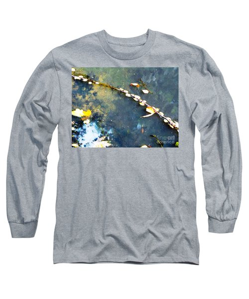 Water, Sky, Stick Long Sleeve T-Shirt by Melissa Stoudt