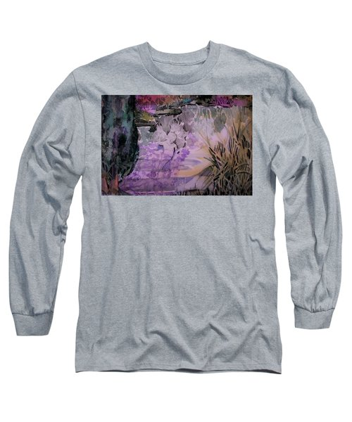 Long Sleeve T-Shirt featuring the painting Water Sprite by Mindy Newman