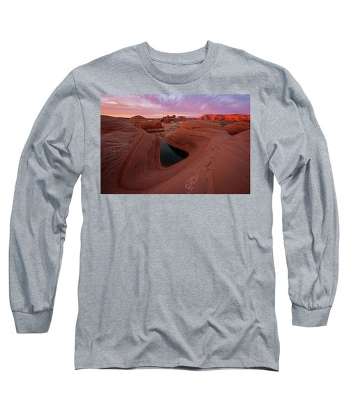 Watercolor Morning Long Sleeve T-Shirt by Dustin LeFevre