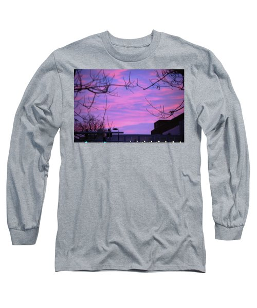 Watercolor Sky Long Sleeve T-Shirt by Sumoflam Photography