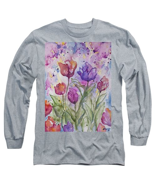 Watercolor - Spring Flowers Long Sleeve T-Shirt