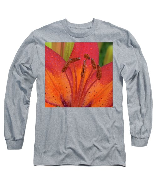 Long Sleeve T-Shirt featuring the photograph Watered Lily by Jean Noren