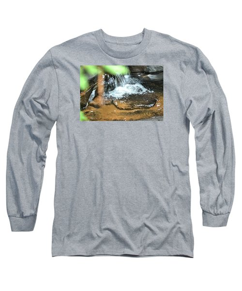 Waterfall And Pool On Soap Creek Long Sleeve T-Shirt by James Potts